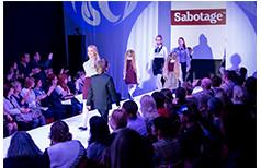 Показ новой коллекции одежды для школы на сезон 2014-2015 марки Sabotage.